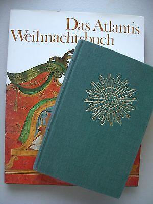 2 Bücher Atlantis Weihnachtsbuch Krippe und Stern Werkbuch Advent Weihnachten
