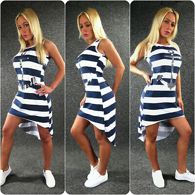 ANKER Sommerkleid Jerseykleid XS S M L Zazou Maritim Vokohila Kleid Marine 5 Anker Kleid