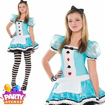 Teen Clever Alice Costume Girls Fairytale Fancy Dress Book Day Wonderland Outfit