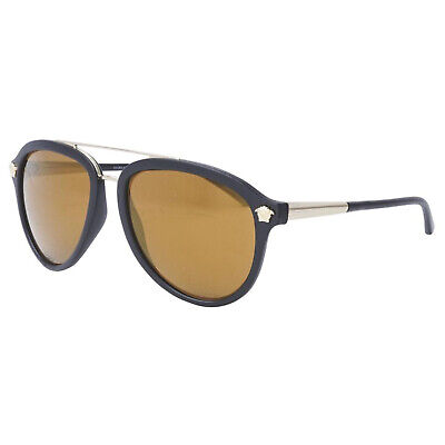NEW VERSACE VE4341 51226H Black/BROWN AUTHENTIC SUNGLASSES 58-140