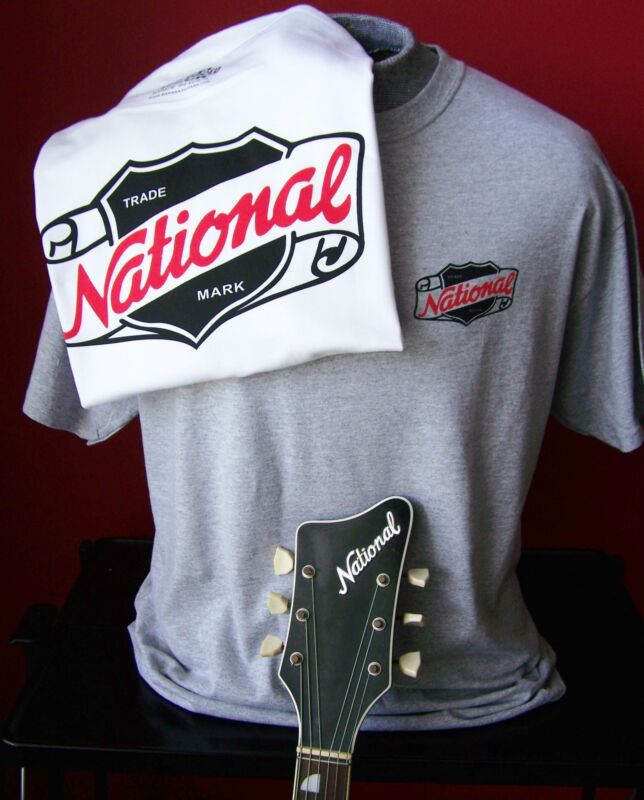 VINTAGE NATIONAL GUITAR T-SHIRT SIZE XL and all other sizes