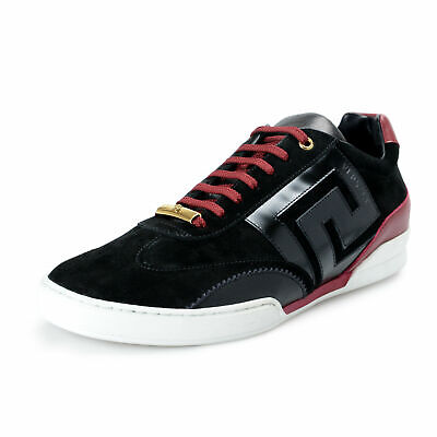 Versace Men's Suede Leather Fashion Sneakers Shoes US 9 IT 42