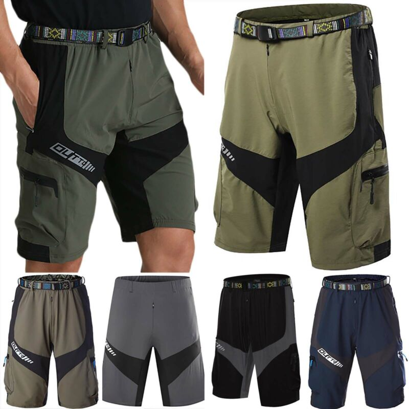 Men Cycling Mountain Bike MTB Bicycle Loose Shorts Pants Bag