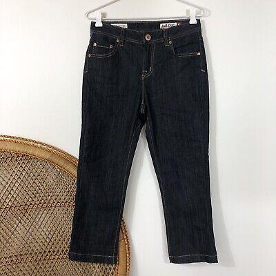 Jag Jeans High Rise Reg Fit Crop Capri Blue Size 8 XS Denim Jean