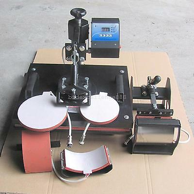 5 In 1 Diy Heat Press Machine Digital Transfer Printer For T-shirt Mug Plate Hat