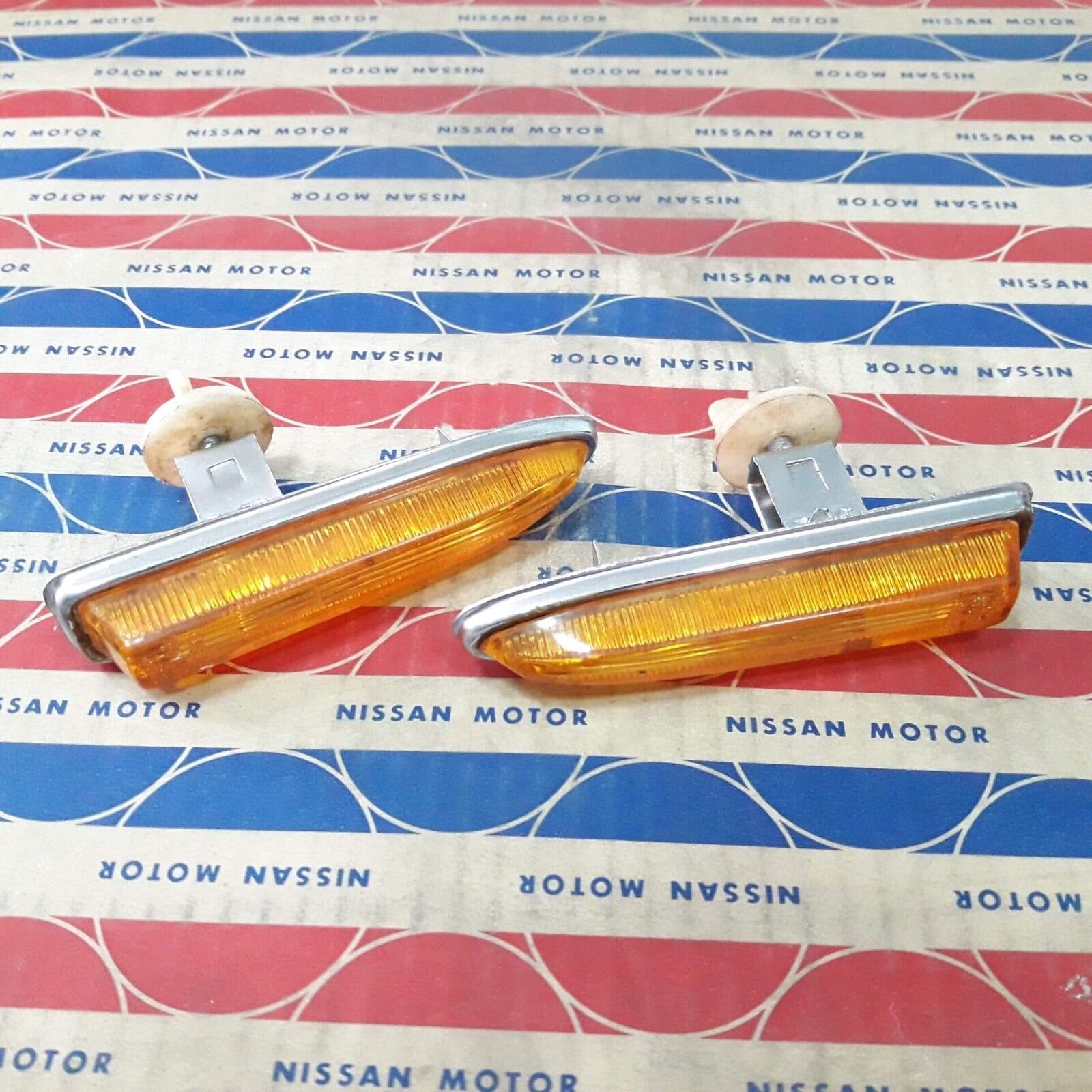 DATSUN 520 Pickup Truck Cover Lens Side Turn Signal Lights Genuine Parts NOS x 2