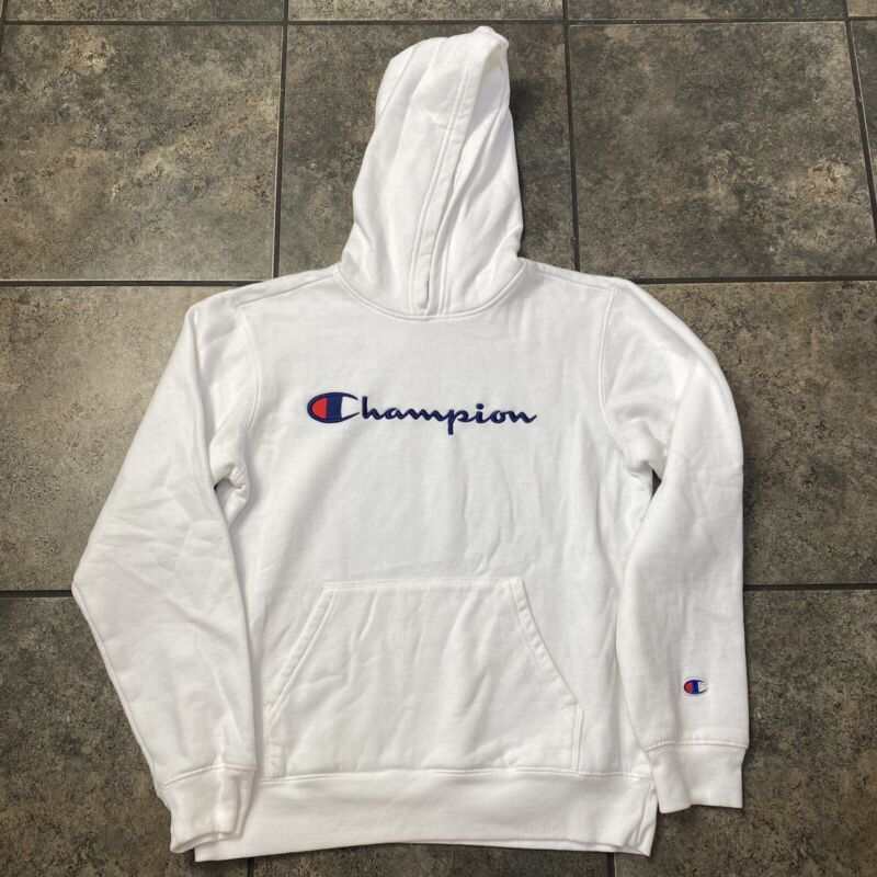 Boys/Kids Champion Athletic Pullover Hooded Sweatshirt Size XL