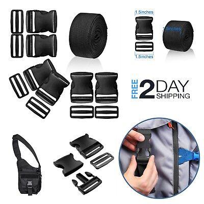 - Plastic Buckle Release Nylon Strap 1.5 Inch Heavy Duty Durable Webbing Kit