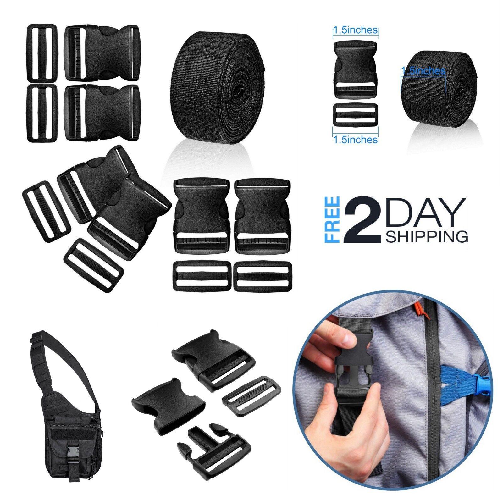 1.5 Inch Plastic Buckle Nylon Strap Webbing Kit Release Dura
