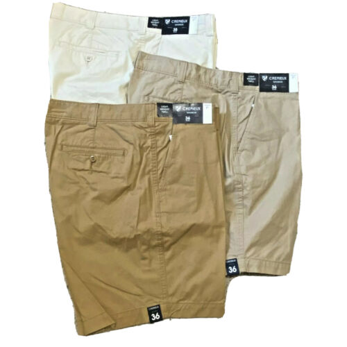 Cremieux Madison Mens Khaki Chino Shorts 7″ Cotton Flat Front 34 35 36 38 40 42 Clothing, Shoes & Accessories