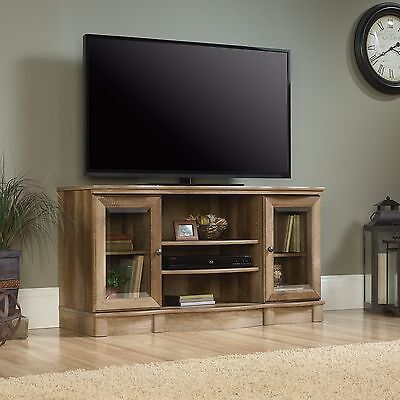مكتبة تلفزيون جديد TV Stand – Craftsman Oak Finish – Sauder Select (420048)