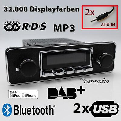 Retrosound San Diego DAB+ Komplettset TRIM Oldtimer Radio USB MP3 Bluetooth DAB 190 Ipod