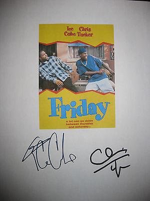 Friday Signed Movie Film Script X2 Ice Cube Chris Tucker Autographs Full reprint