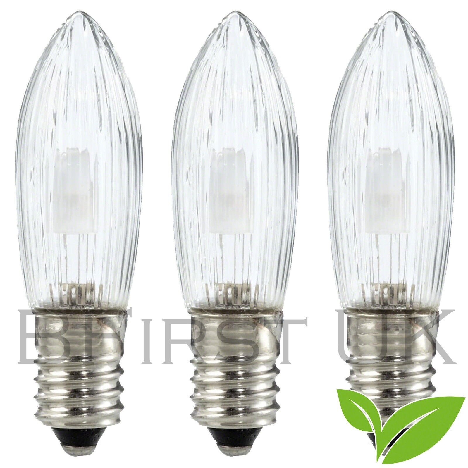 2 x Pack Of 3 Replacement Screw In Candle Bridge Bulbs 34V 3W Clear Bulb