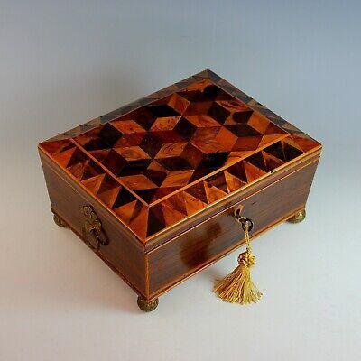Regency Antike Möbel (Antik Regency Kommode Keepsake Box Working Schlüssel)