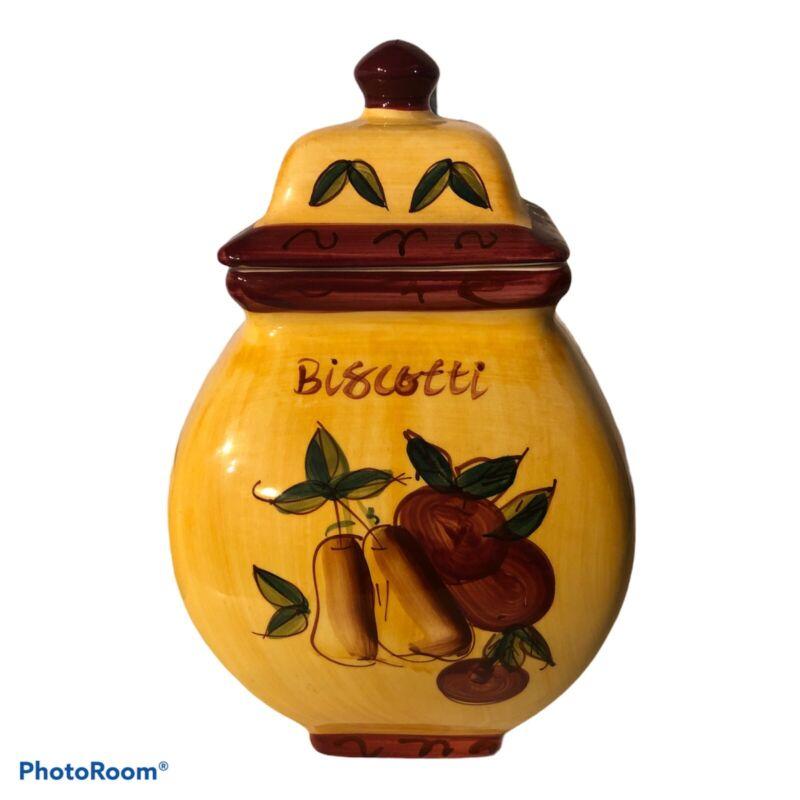 Ceramic Biscotti Cookie Jar Canister Made In China