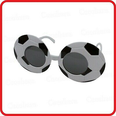 BLACK & WHITE SOCCER BALL BALLS FOOTBALL GLASSES SUNGLASSES-COSTUME-PARTY-FUNNY - Soccer Ball Costume