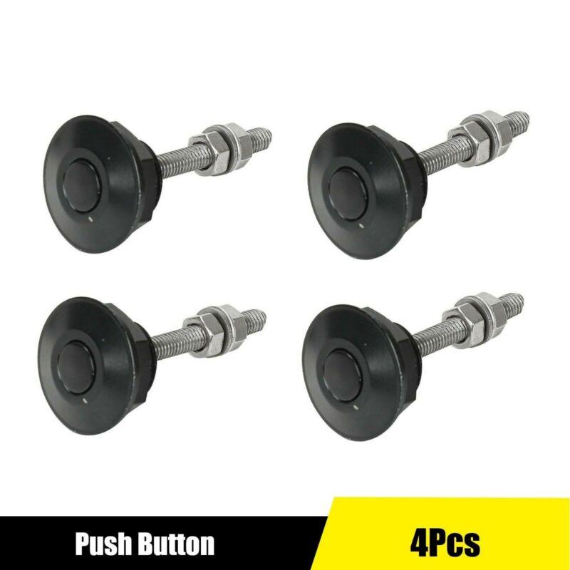 4 X Push Button Quick Release Hood Bonnet Pins Lock Clip Car Bumper Latch Kit