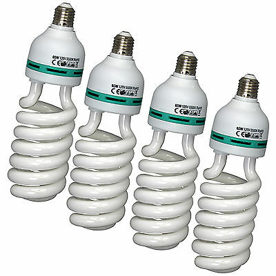 Pro Studio 85W 4 Pack E27 CFL Fluorescent Spiral Daylight Light Bulb 110V (85w Cfl Light Bulb)