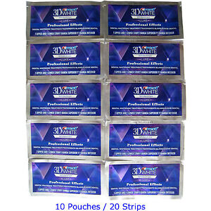 Crest 3D WHITE Whitestrips Professional Effect 20 Strip 10 Pouch Teeth