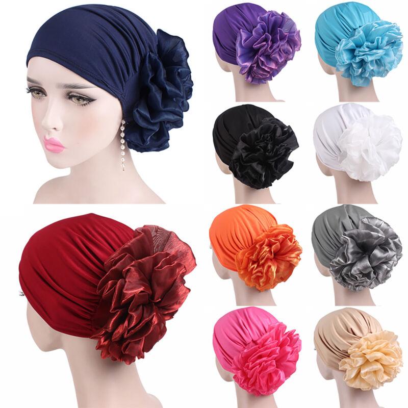 Womens Headwear Turban Cap Flower Muslim Cancer Chemo Hat La