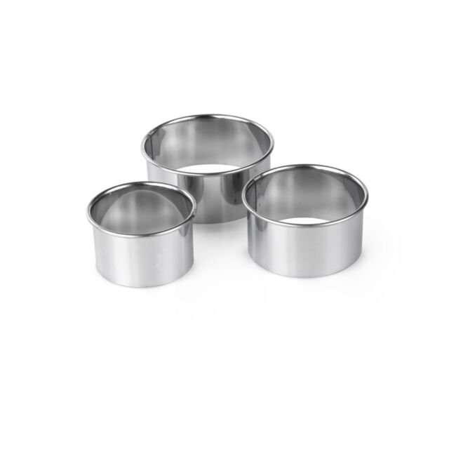 Tala Set of 3 Stainless Steel Plain Scone Pastry Quiche Tart Cutters 10A09516