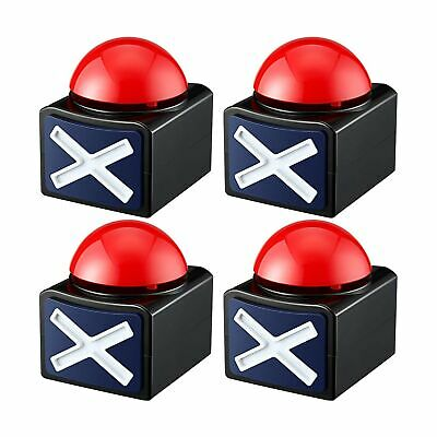 4 Packs Game Answer Buzzers Buzzer Alarm Buttons With Sound And Light Quiz ...
