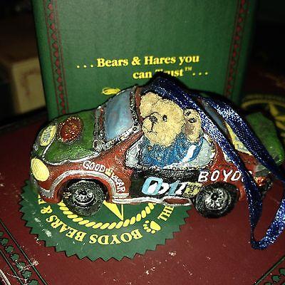 Big Ben Victory lap racing car Retired #25745  NEW n Box Boyds Bears ornament