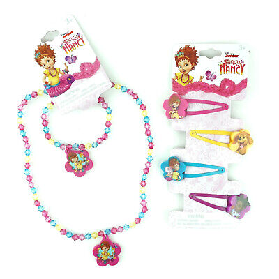 Fancy Nancy Girls Accessory Set Best Necklace Hair Clips Bundle Favors for