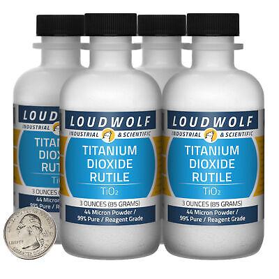 Titanium Dioxide Rutile 12 Oz 4 Bottles 99 Reagent Grade