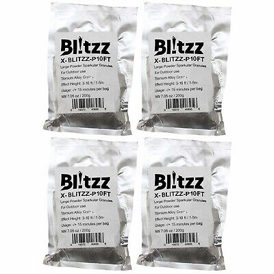 ProX 3-10 Foot High Effect Powder Granules for Cold Spark Blitzz Machine 4 Pack