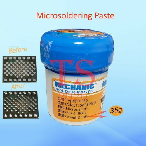 MECHANIC Lead-free Low Temperature SMT Melt Melting Point 183C Solder Paste 35g