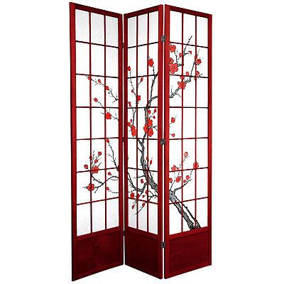 Oriental Furniture 7 ft. Tall Cherry Blossom Shoji Screen
