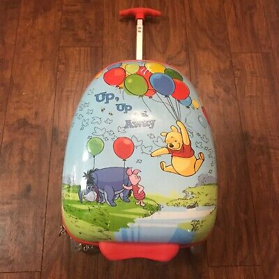 Winnie Pooh Up Up Away Heys Rolling Luggage Child's Rare find !Discontinued