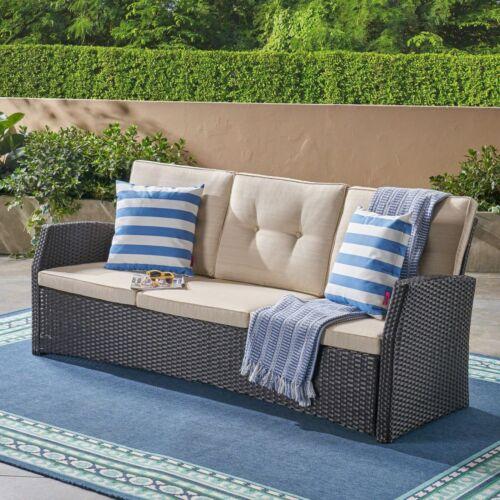 Amigo Outdoor 3 Seater Wicker Sofa Home & Garden