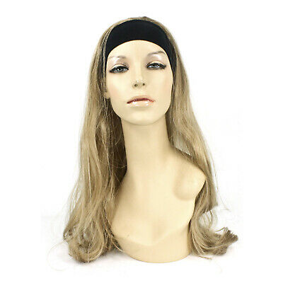 Adult Women's Long Blonde 80s Workout Jazzercise Cosplay Costume Wig Headband