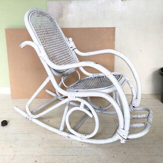 Cane Childrens Rocking Chair Vintage