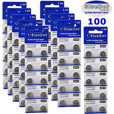 (100) LR44 AG13 357 357A A76 303 L1154 1.5 Volt Alkaline Batteries USA Shipper