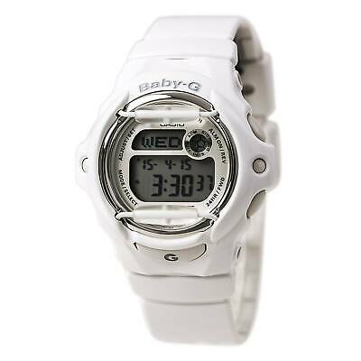 Casio Women's Watch Baby-G White and Grey Digital Dial Resin Strap BG169R-7A