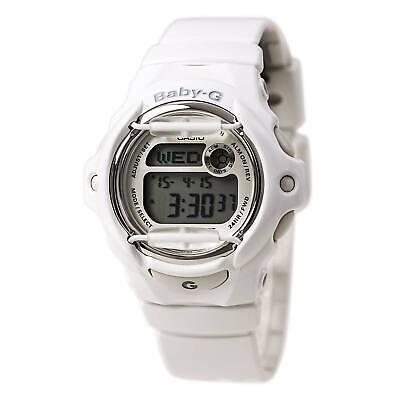 Casio BG169R-7A Women's Baby-G White Resin World Time Alarm Digital Dial Watch