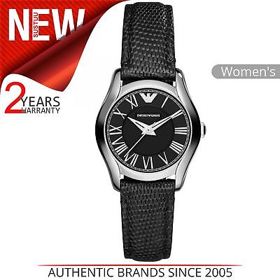 Emporio Armani Classic Womens Formal Watch│Black Round Dial│Leather Strap│AR1712