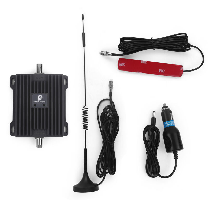 700MHz Cell Phone Signal Booster for Car RV Truck Improve 4G LTE Call and Data