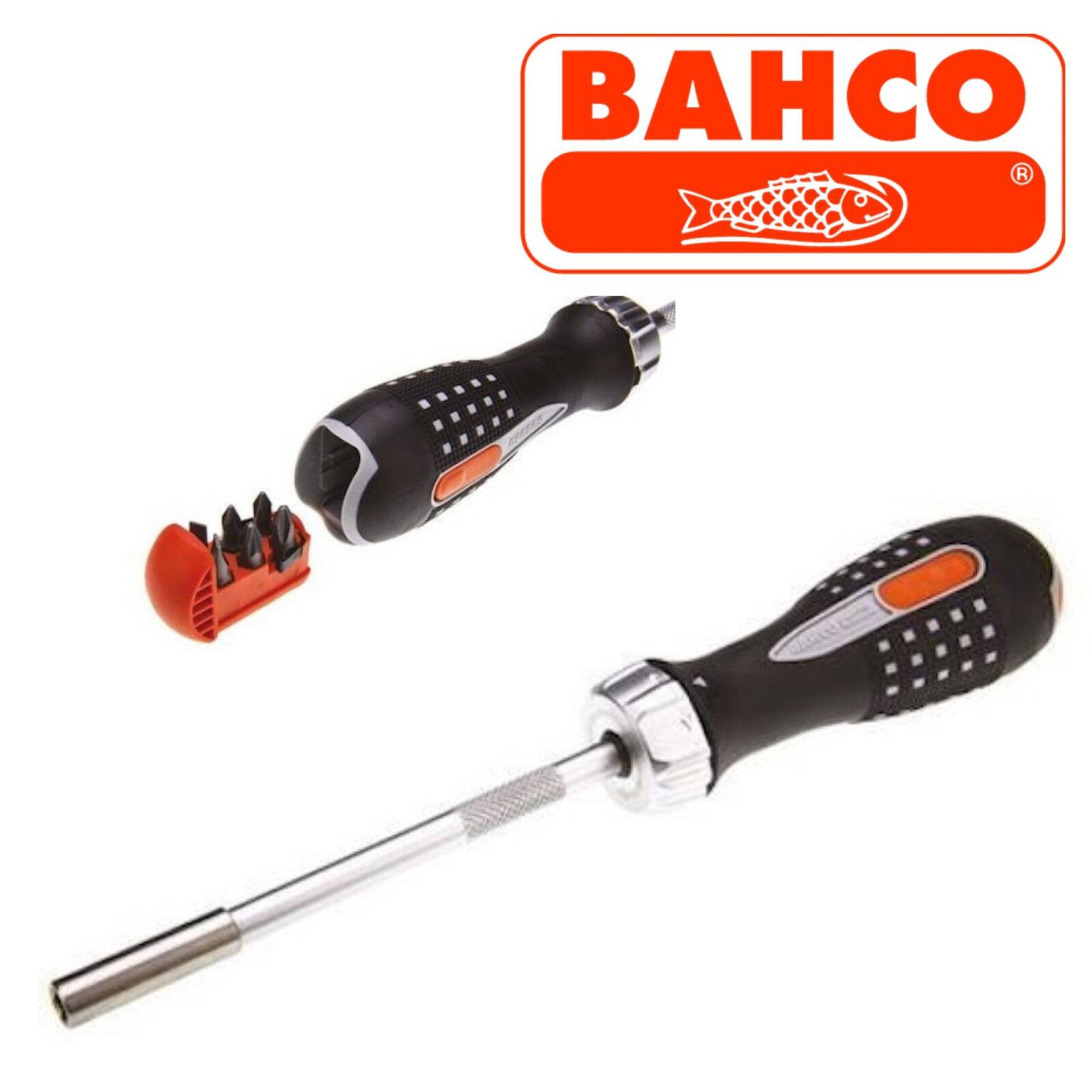 Bahco BAH808050 808050 Ratchet Screwdriver /& 6 Bits