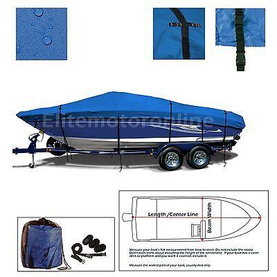 Advantage 27 Victory BR Trailerable performance Jet Boat Storage Cover Blue