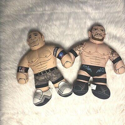 "2011 Mattel WWE RANDY ORTON JOHN CENA Talking Brawlin Buddies 16"" Plush Toy Lot."