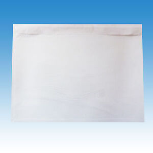1000 Stück Dokumententaschen Lieferscheintaschen DIN C5 transparent / unbedruckt