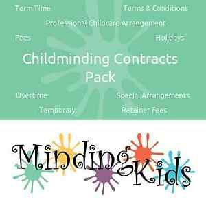 CHILDMINDING CONTRACTS PACK - includes temporary, retainer & term time forms.