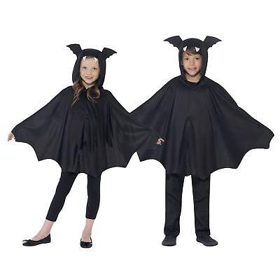 Mädchen Jungen Kinder Fledermausflügel Ärmel Umhang Kapuze Ohren