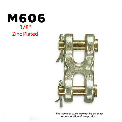 Cm Big Orange M606 Double Clevis Mid-link 38 Zinc Plated 6600 Lb. 2 Pack