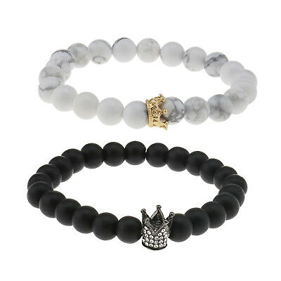 King Queen Crown Couple Bracelets His And Her Friendship Beads Bracelet Gift